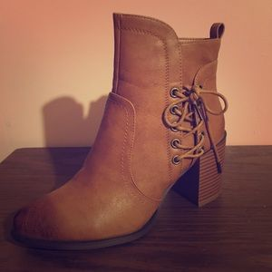 Olivia Miller   Faux Leather   Ankle Boots